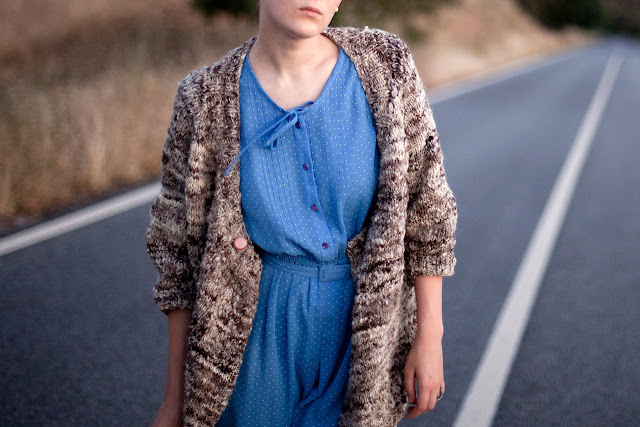 Cardigan - Handknitted Handspun Natural Wool Sweater by mosgos