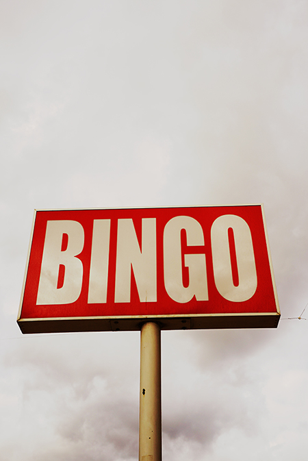 bingo, sign, urban photography, Sam Freek, contemporary,