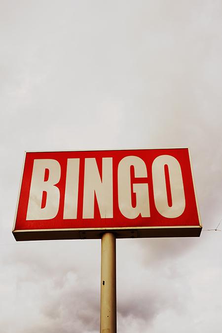 bingo, sign, urban photography, Sam Freek, contemporary,