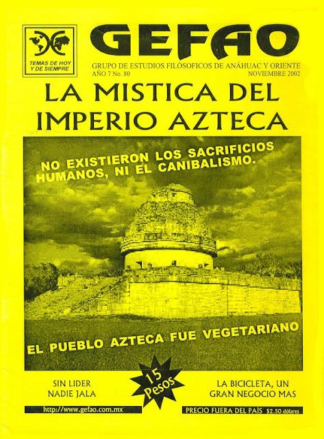 REVISTA GEFAO No 80 LA MISTICA DEL IMPERIO AZTECA