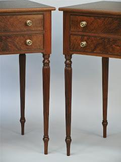 fine custom walnut nightstands