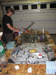 Two Marvel Heroclix Games going at once!