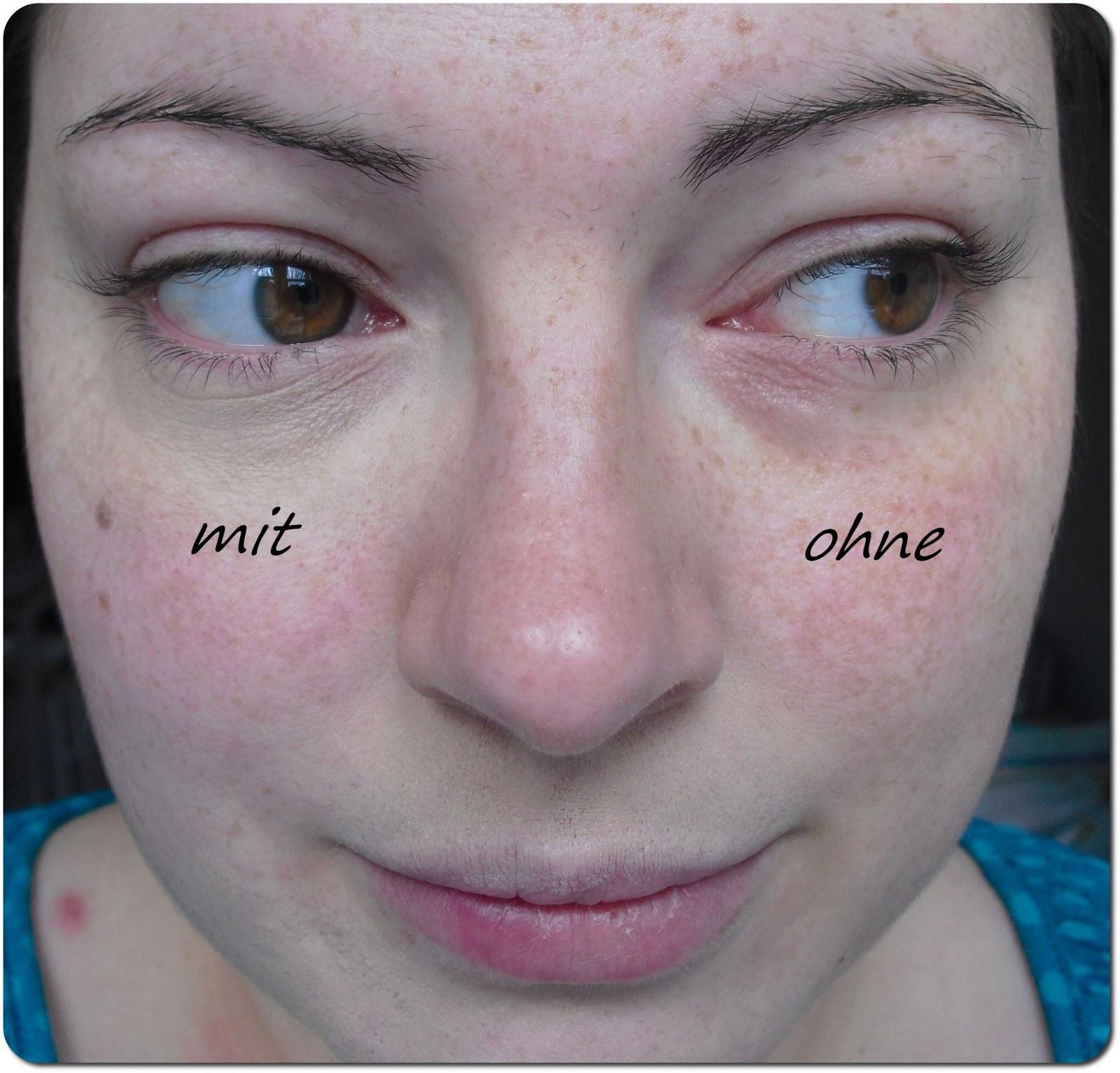 Die Maske mit den Ölen für die kombinierte Gesichtshaut