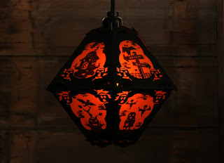 Limited Edition Halloween lantern with 3 watt flicker bulb by Bindlegrim