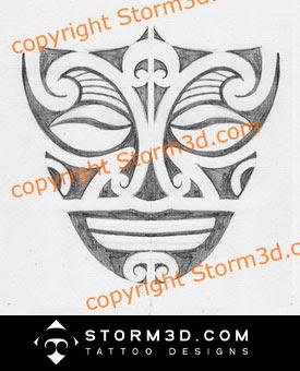 maori mask logo tattoo design tiki ta moko