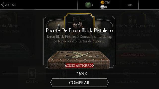 Pacote de Kartas Erron Black Pistoleiro - por Mineira sem Freio