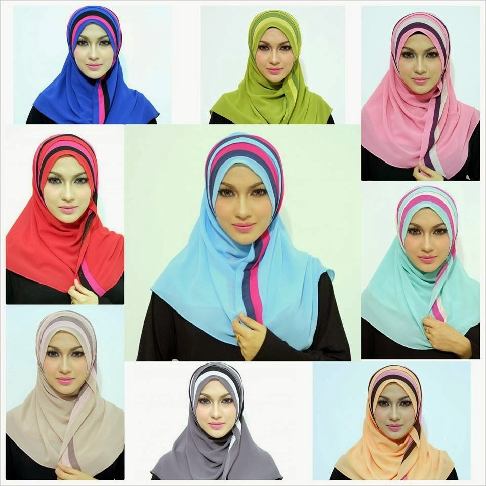Shawl Half Moon Dari Quality Terbaik. Available Ready Stock