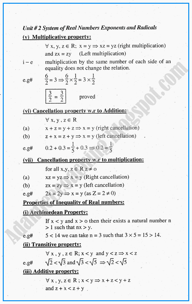 system-of-real-numbers-exponents-and-radicals-definitions-and-formulae-mathematics-notes-for-class-10th