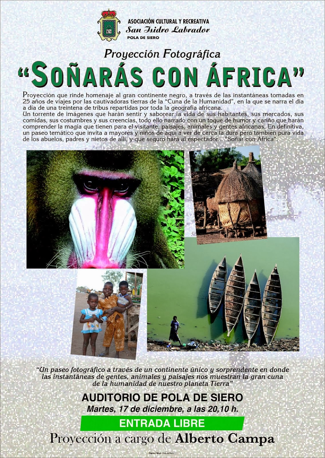 """PROYECCION """"SOÑARAS CON AFRICA"""""""