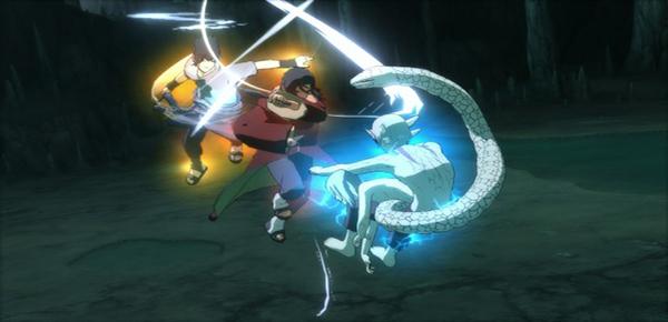 Sage Kabuto, Itachi and Sasuke in Full Burst