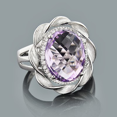 engagement ring pink amethyst gems stone engagement ring 46