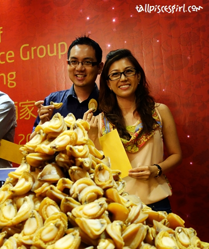 Happy winners, Isaac Tan and Kelly Chin