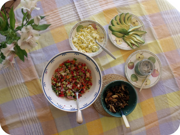 dill egg mayonnaise, sliced avocado, garlic mushrooms, pickled ...