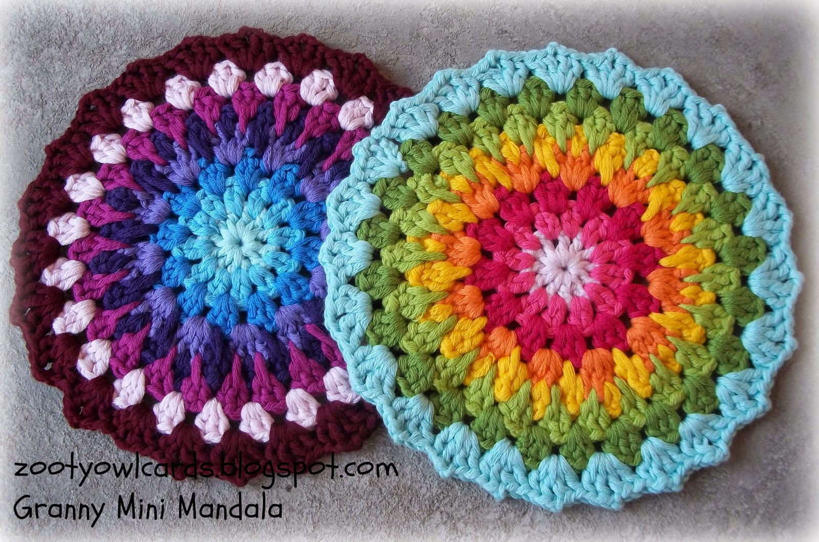 Crochet Free Pattern Mandala : Zooty Owls Crafty Blog: Granny Mini Mandala