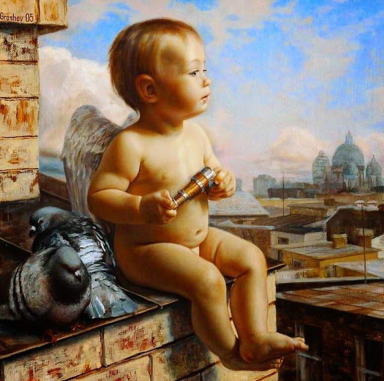 angeles-de-ninos-pinturas