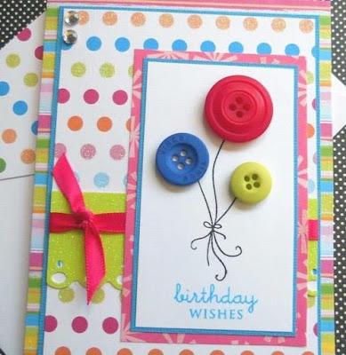 Thiệp sinh nhật Handmade Từ Cúc Áo