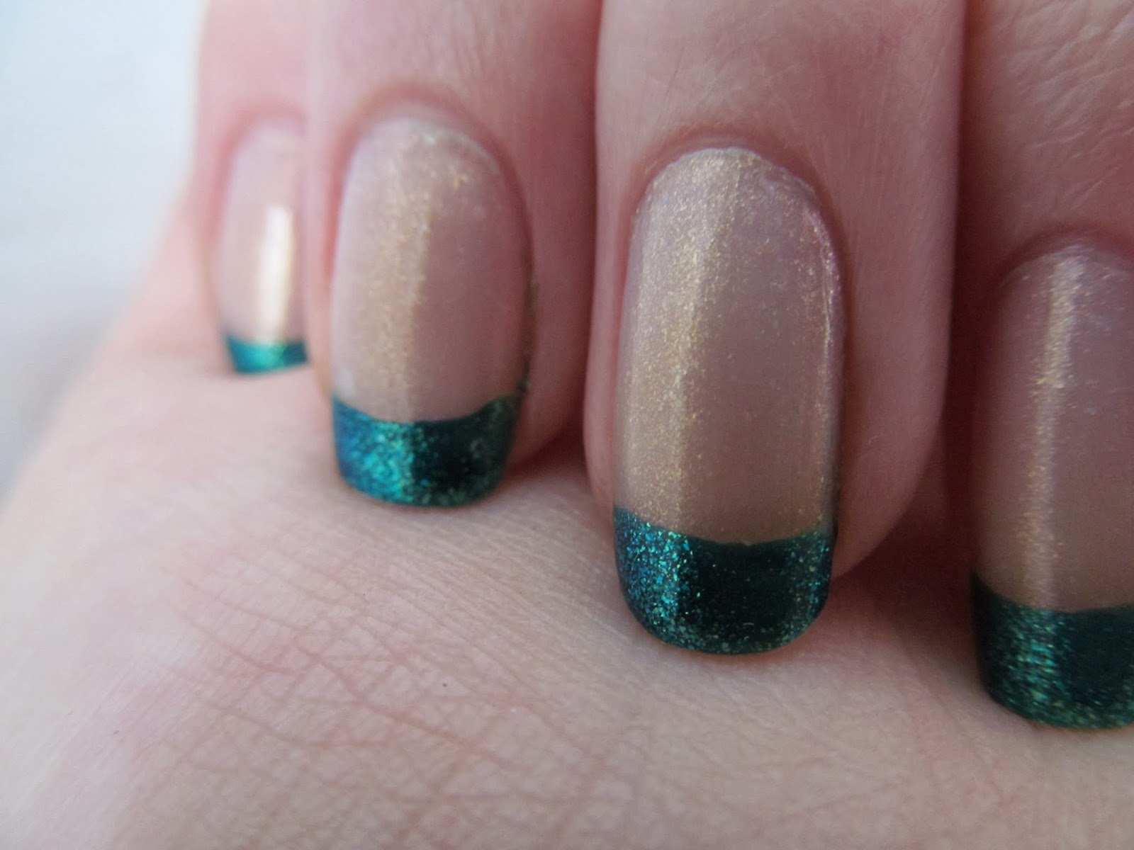 Ela Prima Polish: Teal French Manicure