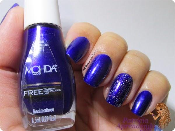 Esmaltes Mohda Free Mediterrâneo e Holo Glitter