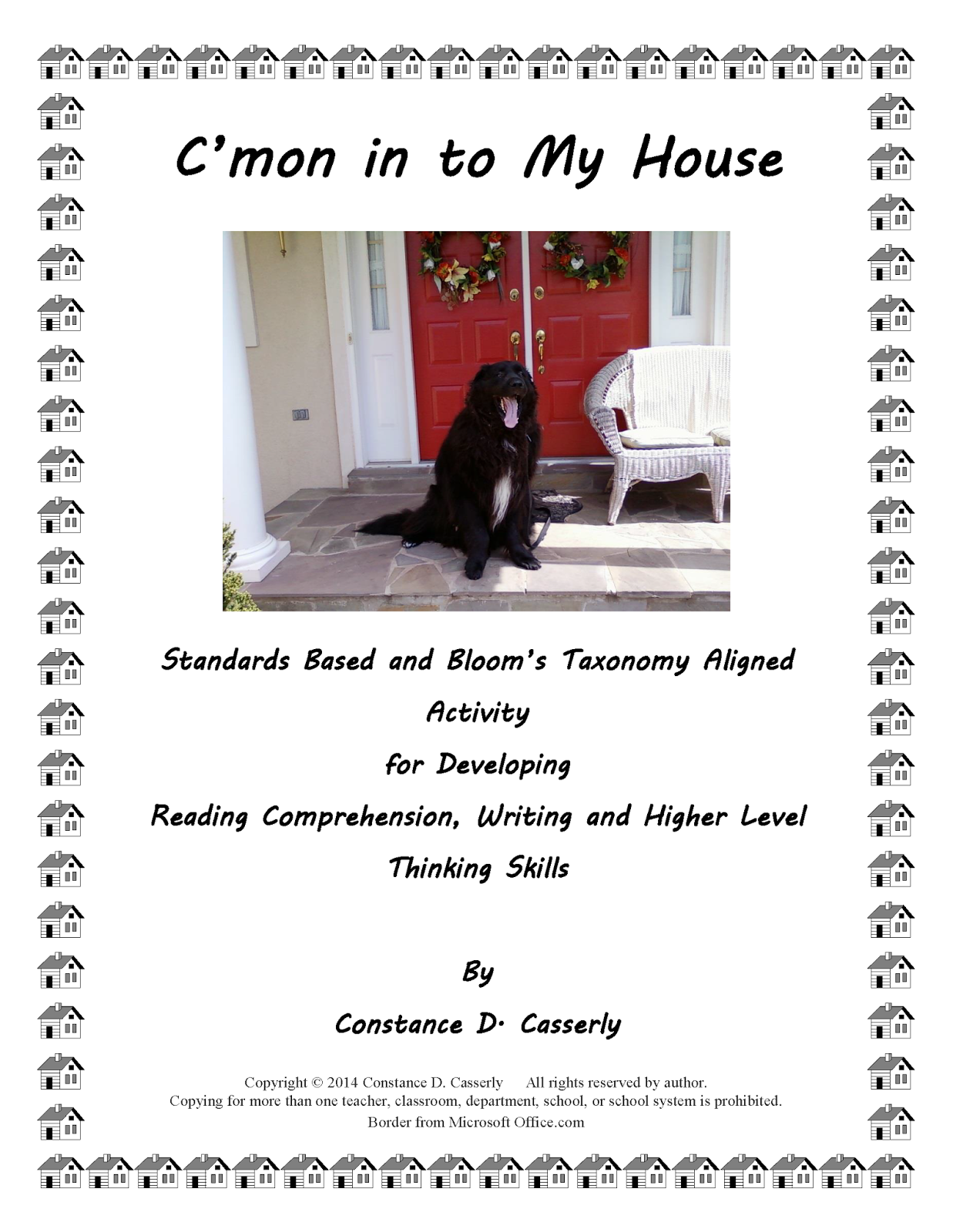 "Language Arts Activity – ""C'mon in to My House"" cover"