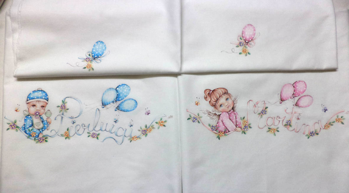 Préférence ile nei colori: lenzuolini neonato dipinti a mano OU61