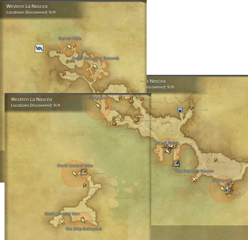 Western La Noscea Map