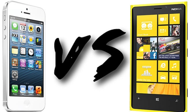 Nokia Lumia 920 Vs iPhone 5