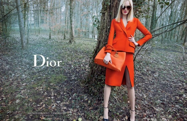 Dior photoshoot in a magical forest