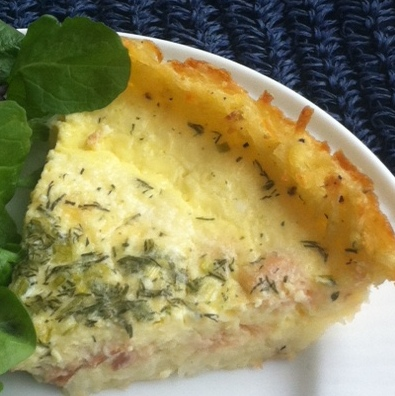 Eat • Write: Goat cheese and smoked salmon quiche has a ...