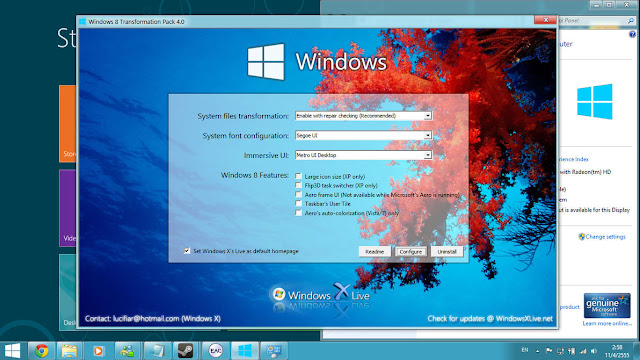 Merbuah Tampilan Windows XP Menjadi Windows 8