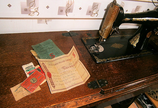 singer sewing machine receipts