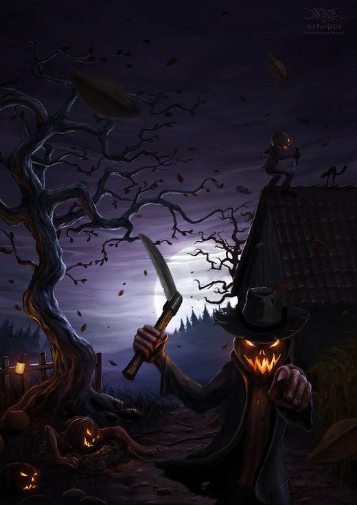 Evil Pumpkins por amorphisss