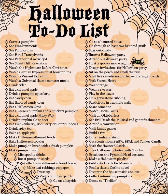 Halloween Bucket List :: : It catches my eye...