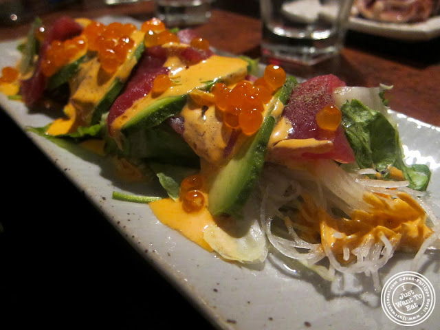 image of Spicy Tuna Carpaccio at East Japanese Restaurant in NYC, New York
