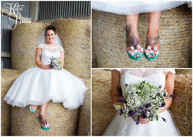 tattooed bride, high house farm brewery wedding, barn wedding, barn wedding northumberland, northumberland wedding photographer, quirky wedding, katie byram photography, matfen barn wedding, vivienne westwood shoes