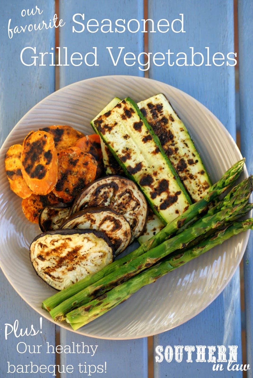 Healthy Grilling Tips - Healthy Seasoned Grilled Vegetables Recipe - low fat, vegan, gluten free, vegetarian, sugar free