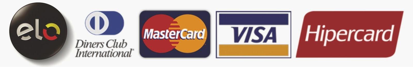 Aceitamos cartões: