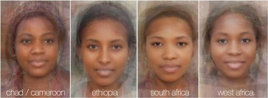 Different Female Faces from around the World