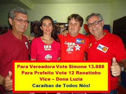 Caraíbas é dos Agricultores e Precisa dos Professores Vote Simone para a Câmara de Vereadores!