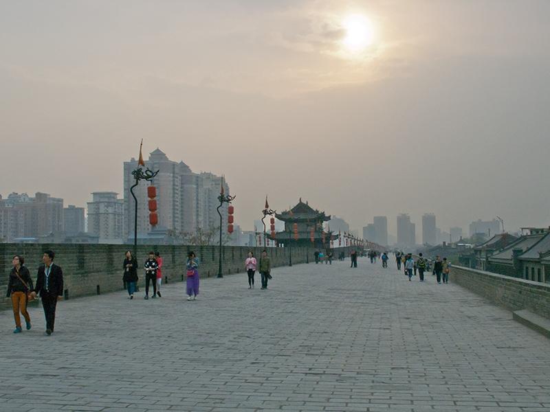 Sur les remparts de Xi'an