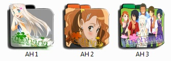 Ano Hana Anime Folder Pack Icon