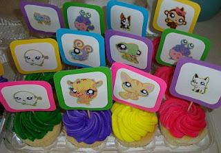 Cupcakes Littlest Pet Shop para Fiestas Infantiles