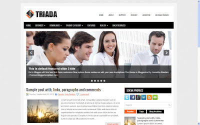 triada blogger template