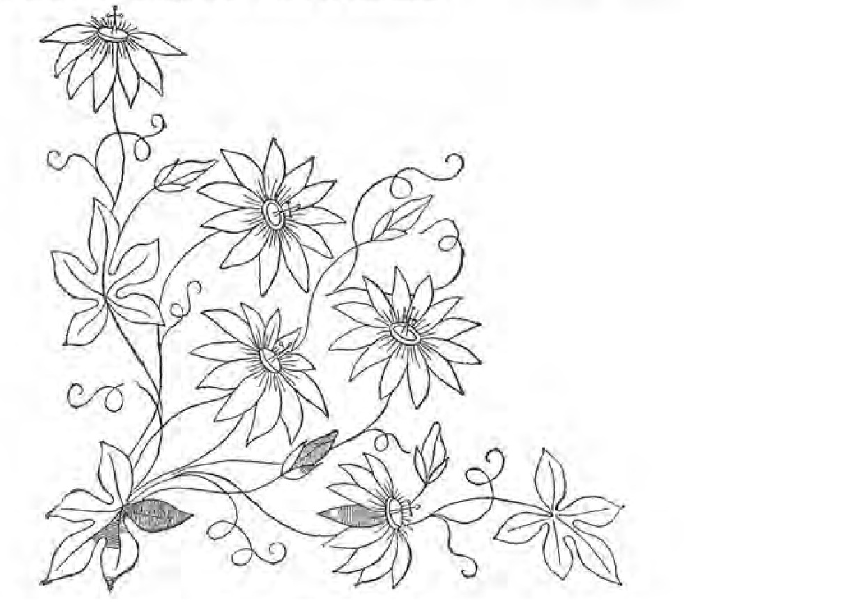 Embroidery flower patterns gallery