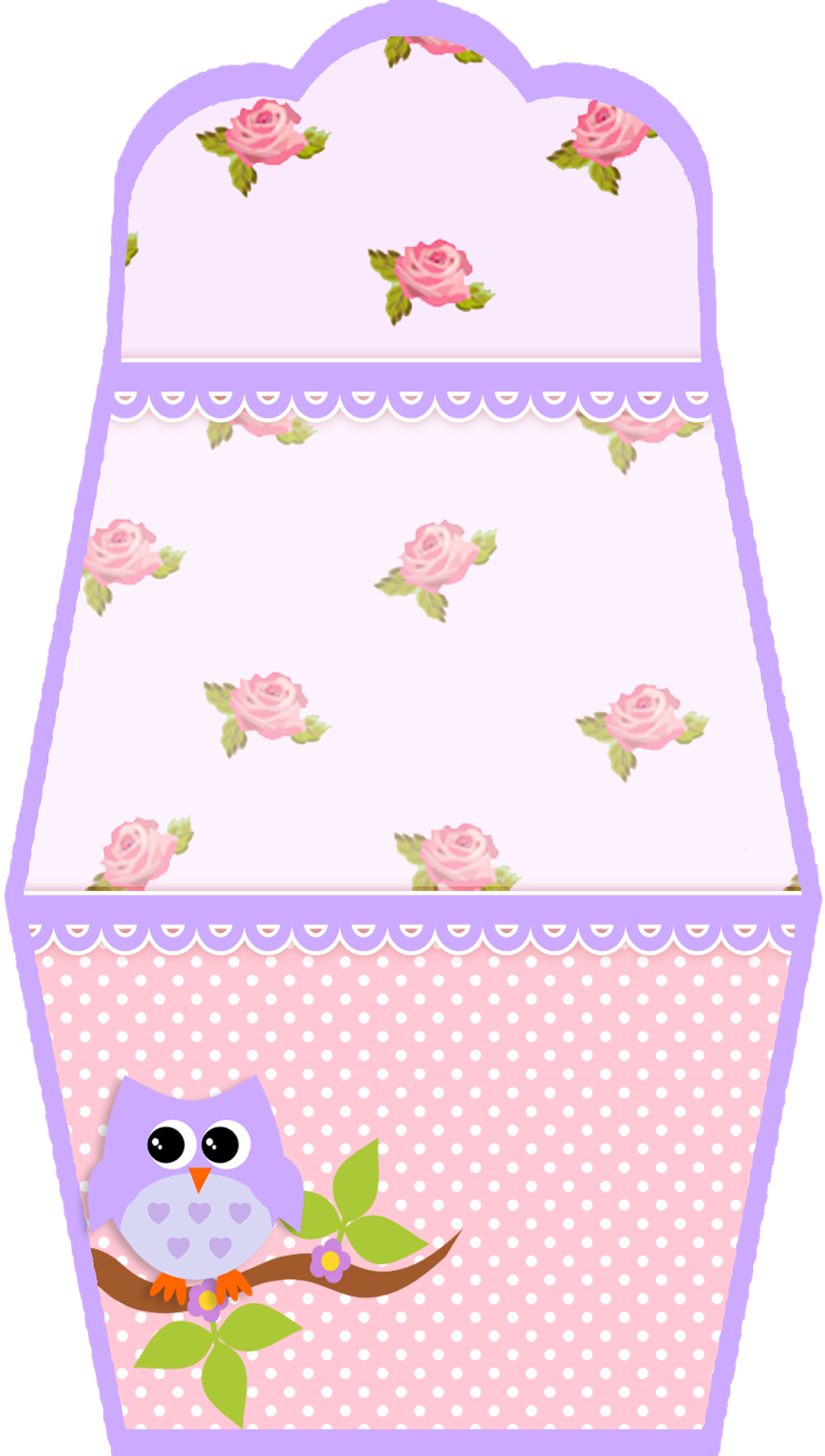 lilac owl in shabby chic free printable invitations and boxes