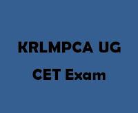 KRLMPCA UG CET 2016 Logo
