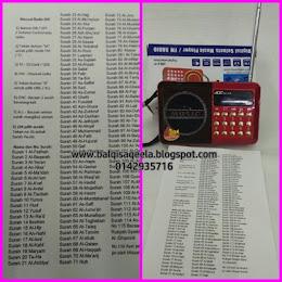 RADIO DIGITAL 30 JUZUK AL QURAN+ AYAT RUQYAH+RADIO FM