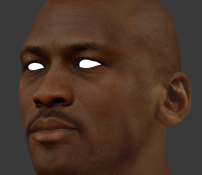 NBA 2K14 Michael Jordan HD Face Texture Mod