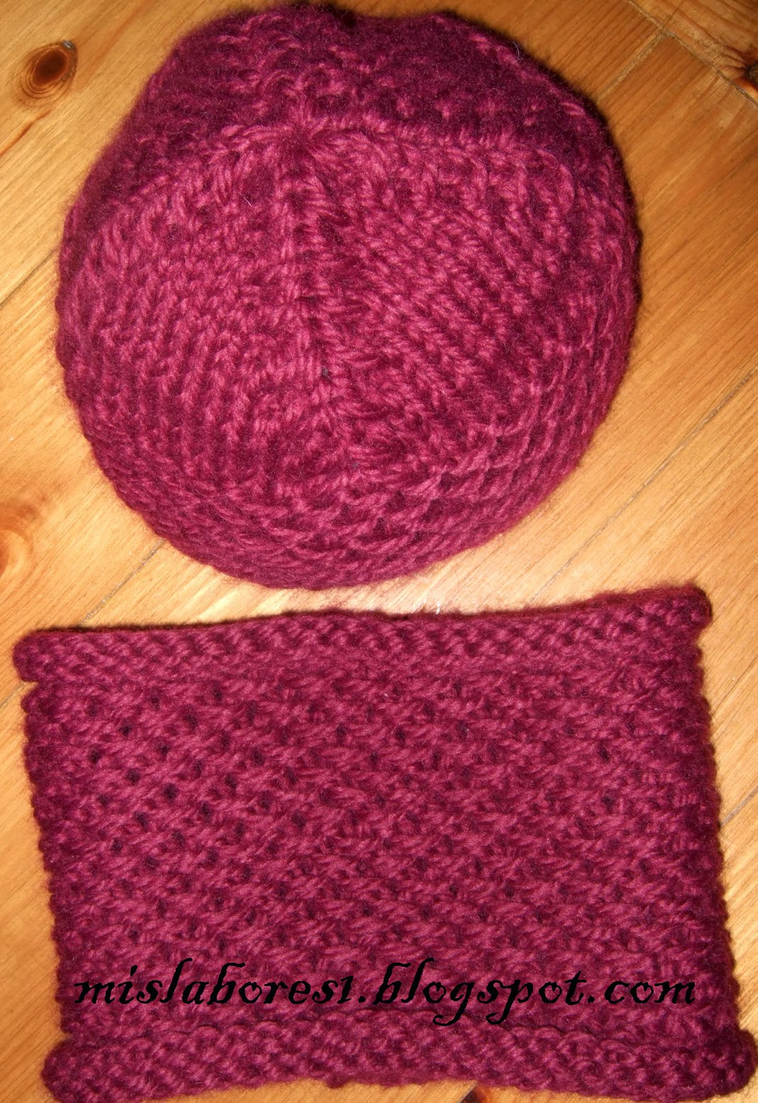 Mis labores gorro y cuello de lana - Labores de punto de lana ...
