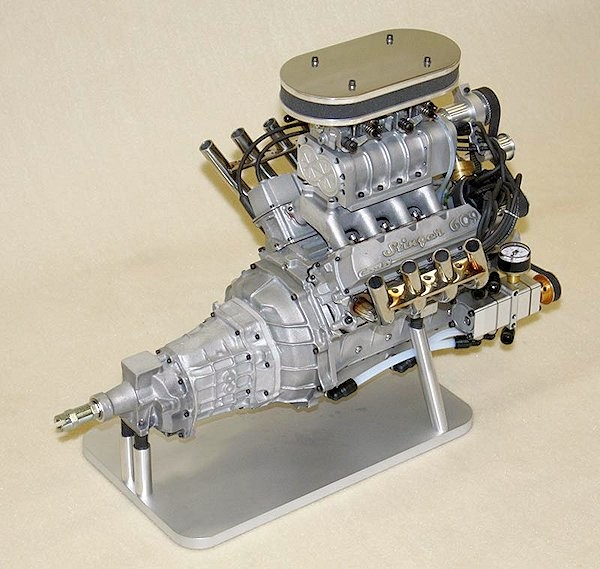 World's smallest supercharged four-stroke V8 engine now in production The Conley Stinger 609 supercharged four-cycle V8 gasoline engine - 6.09 cubic inches and 9.5 horsepower at 10,000 rpm (Photo: Conley Precision Engines) Via Gizmag