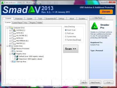 SmadAV 2013 Rev.9.2.1 Pro+Keygen